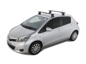 Toyota Yaris w/ rhino roof racks