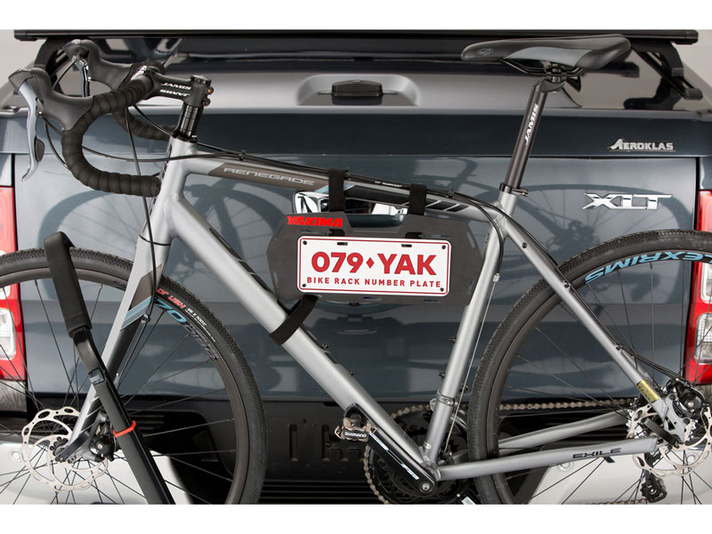 yakima plate mate on bike on bike rack