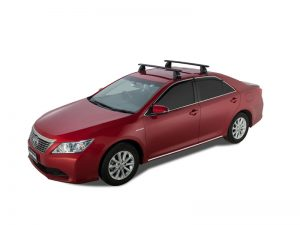 red toyota aurion with rhino vortex roof racks