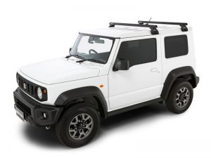 white suzuki jimny with black vortex RL110 roof racks