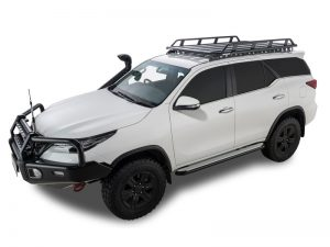 white toyota fortuner with rhino pioneer tradie