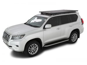 white 150 series prado with pioneer backbone platform