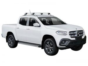 white mercedes benz x-class with whispbar flush bars