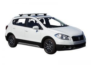 white suzuki s-cross with black whispbar extended roof racks