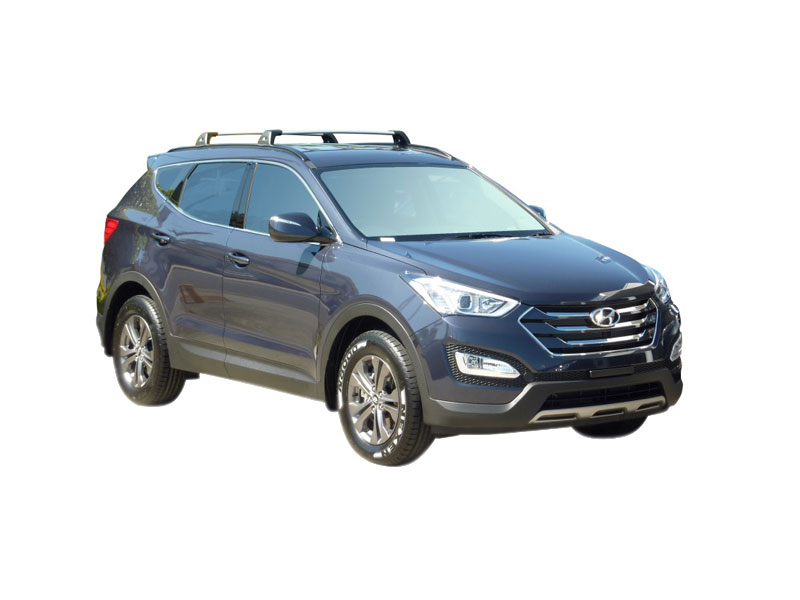 HYUNDAI SANTA FE 5 DOOR SUV AUG 2012 U2013 On (FLUSH RAILS) WHISPBAR Roof Rack